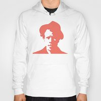 tom waits Hoodies featuring Tom Waits in Red by JennFolds5 * Jennifer Delamar-Goss
