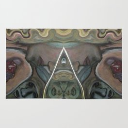 Linear Illusion Watchful Eye (Over the Door Painting) Rug
