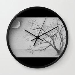 Tree Moon Light Wall Clock