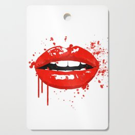 Red lips Cutting Board
