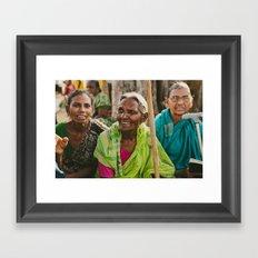 Village Women Framed Art Print