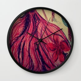 Red fairy Wall Clock