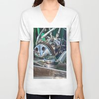 ford V-neck T-shirts featuring Ford V8 by Shalisa Photography