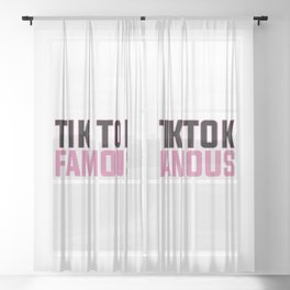 TIK TOK FAMOUS FUNNY Sheer Curtain