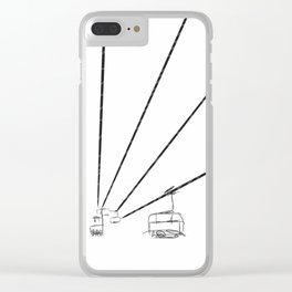 Sky lift Clear iPhone Case