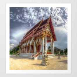 Thai Temple #3 Art Print