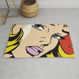 A vectorised and reworked pop art of Roy Lichtenstein Rug