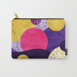 Terrazzo galaxy purple night yellow gold pink Carry-All Pouch
