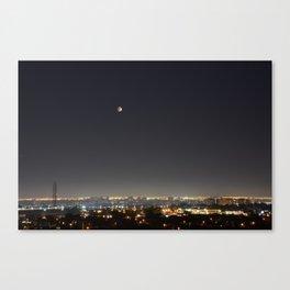 City Blood Moon. Canvas Print