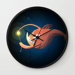 Good Night by Angler Fish Wall Clock