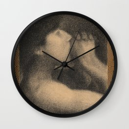 Monsieur Seurat . Blowin' in the wind Wall Clock