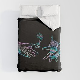the Creation of Cannabis- holographic Duvet Cover