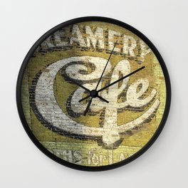 Butte Montana - Creamery Cafe For Ladies Wall Clock