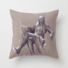 Party Dad Throw Pillow