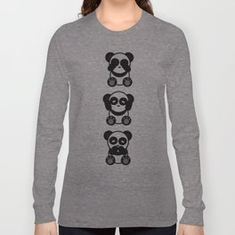 Panda Mantra Long Sleeve T-shirt