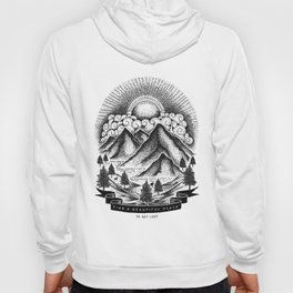 FIND A BEAUTIFUL PLACE TO GET LOST (White) Hoody
