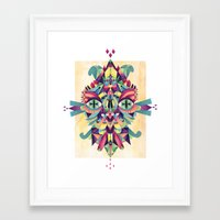 mask Framed Art Prints featuring Mask by Cobrinha
