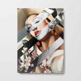 "Tamara de Lempicka's ""The Straw Hat"" & M.M. Metal Print"