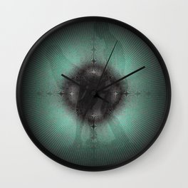 sustainable deep green Lovers Wall Clock