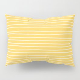 Sunshine Yellow Pinstripes Pillow Sham