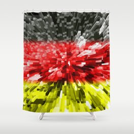 Extruded Flag of Germany Shower Curtain