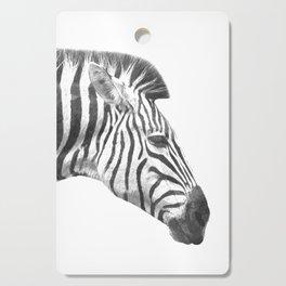 Black and White Zebra Profile Cutting Board