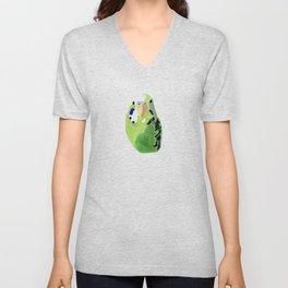 Green Budgie Parakeet bird Unisex V-Neck