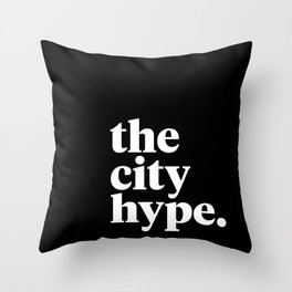 The City Hype Throw Pillow