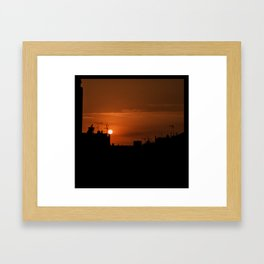 Sun Run Framed Art Print