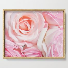 pink roses Serving Tray