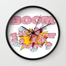 Boom, cake  Wall Clock