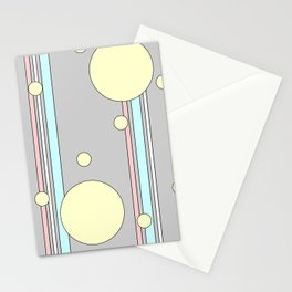 Bubble Stripe Curtains Stationery Cards