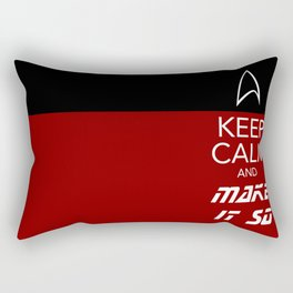 Keep Calm and Make It So Rectangular Pillow