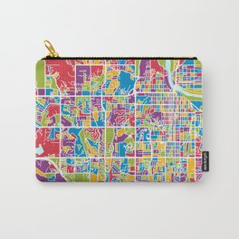 Lawrence Kansas City Map Carry-All Pouch