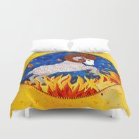 aries Duvet Covers featuring Aries by Sandra Nascimento