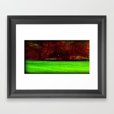 Red Trees 0ne Framed Art Print