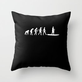 Funny Stand Paddling Evolution SUP Gift Idea Throw Pillow