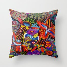 """Friends"" Nudibranch I Throw Pillow"
