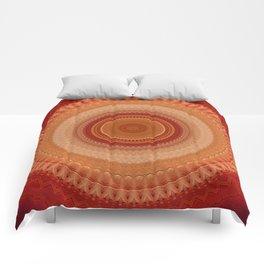Vintage Orange Mandala Comforters