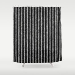 Black and White Silver Fox Fur Pattern Shower Curtain