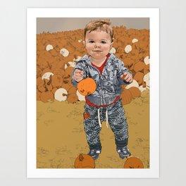 Pumpkin Patch, corrected Art Print