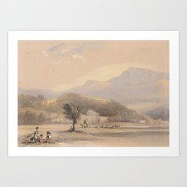George Catlin,  Catching the Wild Horse (Plate 4); Buffalo Hunt on Snow Shoes (Plate 15); Buffalo Hu Art Print