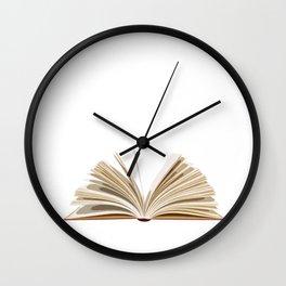 Funny Book Reading Design Literature Teachers Librarian Image Wall Clock
