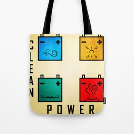 Power Clean Tote Bag