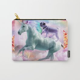 Rainbow Pug In Space Riding A Unicorn Carry-All Pouch