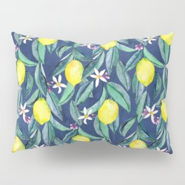 When Life Gives You Lemons - blue Pillow Sham