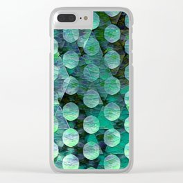 Circles on Triangles Turquois Green Clear iPhone Case