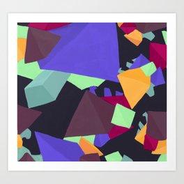Pyramid Gems Art Print