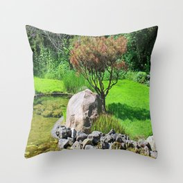 Working in Sync Throw Pillow