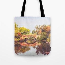 New York City Autumn Bridge Tote Bag